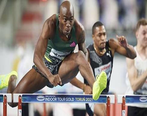 بالفيديو .. العداء الأمريكي هولواي يحطم الرقم العالمي في سباق 60 مترا حواجز