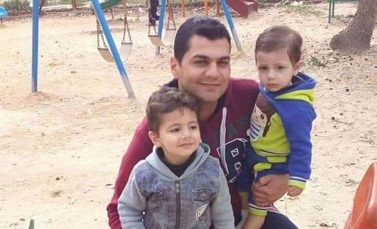 صورة : قبر واحد ضم الأربعة الذين توفوا في حادث إربد