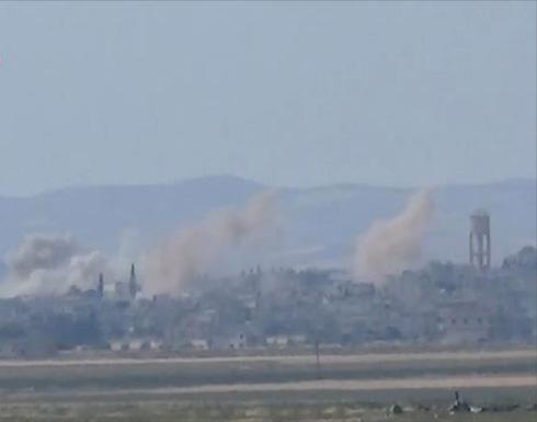 قصف وغارات جوية على ريفي حماة وحمص
