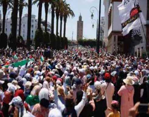 احتجاجات في 39 مدينة مغربية تضامنا مع القدس وغزة