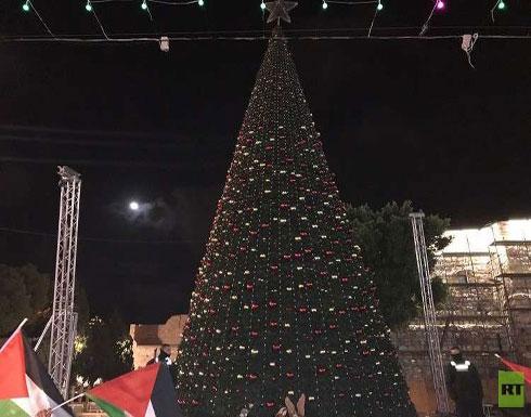 إطفاء أنوار المسجد الأقصى وشجرة عيد الميلاد في بيت لحم رفضا لقرار ترامب