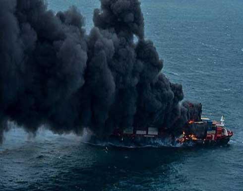 شاهد : سريلانكا أمام كارثة بحرية ناجمة عن احتراق سفينة