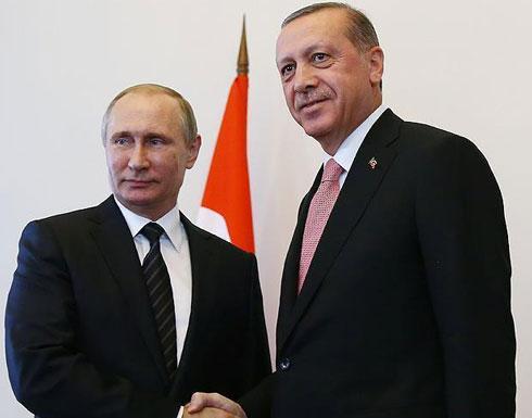 بوتين خلال لقائه أردوغان: نبحث حلّاً للأزمة السورية يرضي الجميع