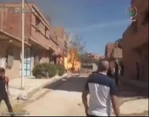 شاهد: 5 قتلى في انفجار أنبوب غاز جنوب غربي الجزائر