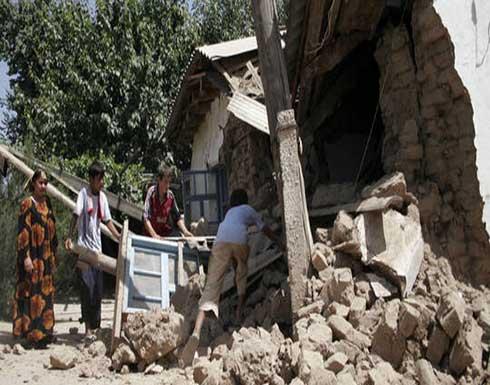 شاهد : مصرع 5 أشخاص جراء زلزال ضرب شرقي طاجيكستان