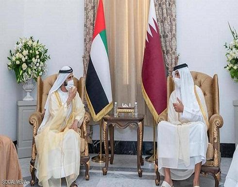 نائب رئيس الإمارات يلتقي أمير قطر على هامش مؤتمر بغداد