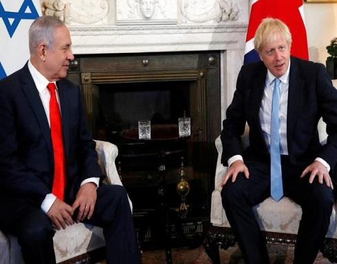 جونسون يؤكد لنتنياهو رفض لندن لأي ضم أحادي للأراضي
