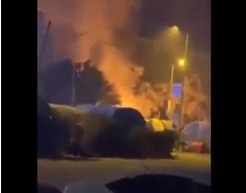 شاهد : حرق خيم المتظاهرين في الناصرية واطلاق النار عليهم من قبل ميلشيات الحشد