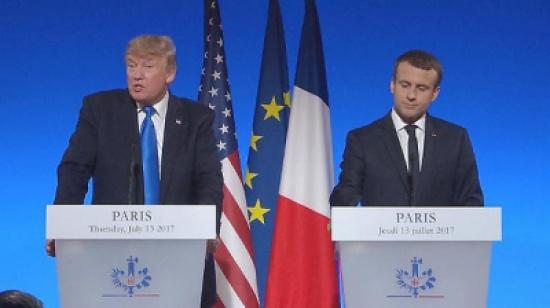شاهد .. مؤتمر صحفي للرئيس الفرنسي ماكرون ونظيره الأمريكي ترامب