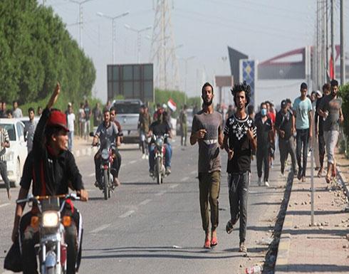 متظاهرون يطوقون ميناء أم قصر والطرق المؤدية إليه في البصرة