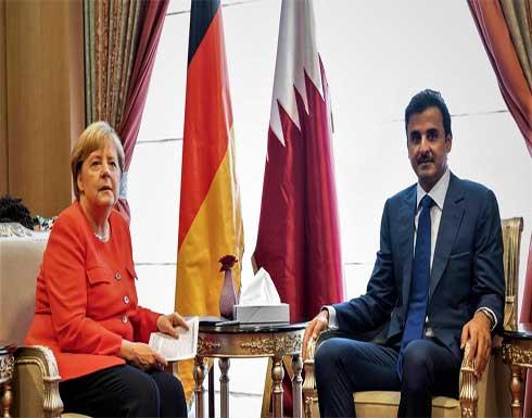 أمير قطر يبحث مع ميركل التطورات في أفغانستان