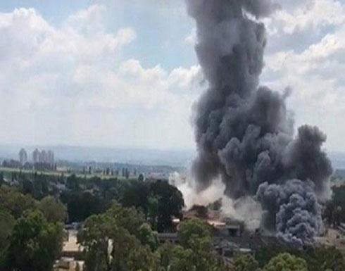 شاهد : انفجار في مستودع للصناعات العسكرية في إسرائيل