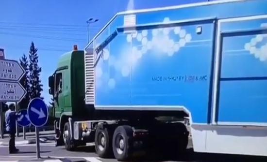 بالفيديو : شاهد الشاحنات الاردنية التي منعت اسرائيل دخولها الى غزة