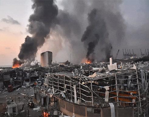 اندلاع حريق في مرفأ بيروت (فيديو)