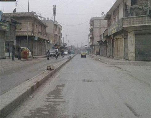 إضراب بمنبج يطالب بخروج قوات سوريا الديمقراطية