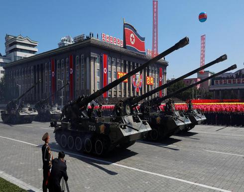 عرض عسكري كوري شمالي بدون صواريخ عابرة للقارات