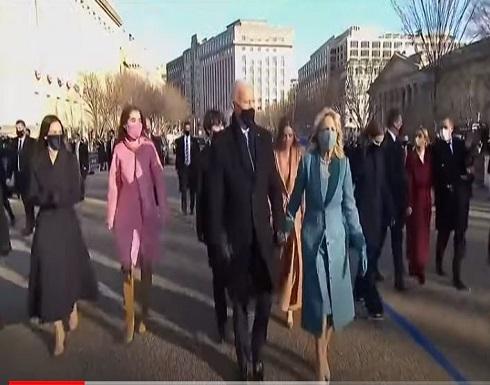 شاهد : الرئيس الأمريكي جو بايدن يتوجه إلى البيت الأبيض