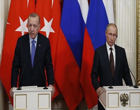 أردوغان وبوتين يبحثان العلاقات الثنائية وقضايا إقليمية