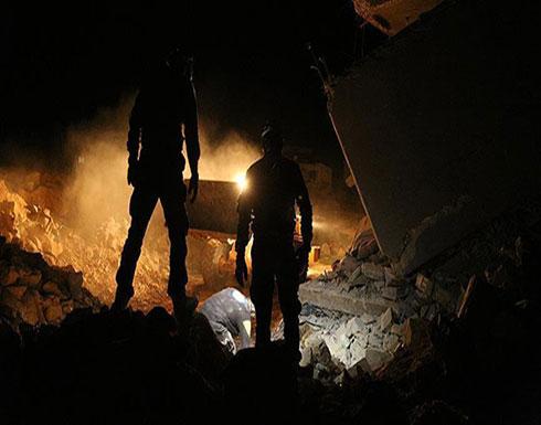 فيديو : مقتل 20 مدنيًا بغارات جوية على إدلب السورية