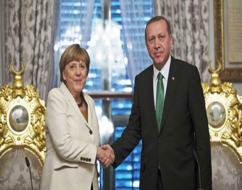 """""""أردوغان"""" يبحث مع """"ميركل"""" الوضع الإنساني في حلب"""
