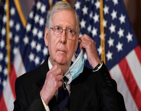زعيم الأغلبية في مجلس الشيوخ : لا أعترف بجو بايدن رئيسا ولا بهاريس نائبة له