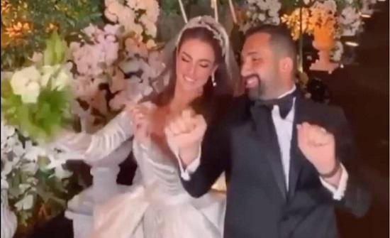 شاهد.. رقص درة وهاني سعد في حفل زفافهما