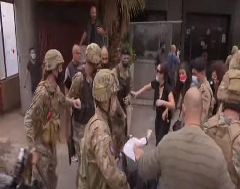 شاهد : الجيش اللبناني ينتشر وسط بيروت بعد تجدد الاحتجاجات