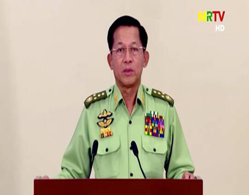 """في أول خطاب له منذ الانقلاب.. قائد الجيش في ميانمار يتعهد بإجراء """"انتخابات حرة"""""""