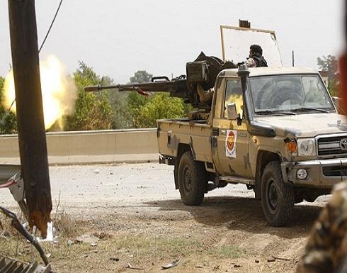 """""""الوفاق"""" تستهدف قاعدة """"الوطية"""" وإمدادت لحفتر جنوبي طرابلس"""