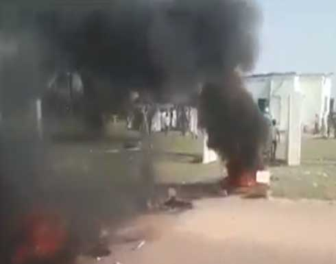 شاهد : محتجون يحرقون مباني حكومية جنوبي موريتانيا