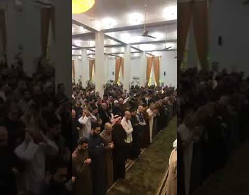 شاهد : صلاة الغائب على ارواح شهداء الناصرية في مدينة الرمادي