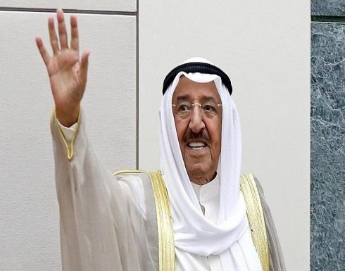 أول ظهور لأمير الكويت بعد وعكته الصحية (فيديو)