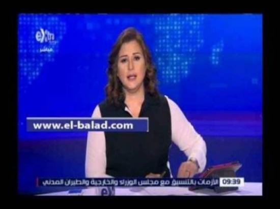 فيديو  مذيعة مصرية تبدل ملابسها على الهواء بعد سقوط الطائرة