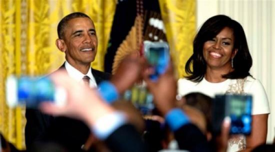 أوباما: ميشيل أعقل من أن تترشّح للرئاسة