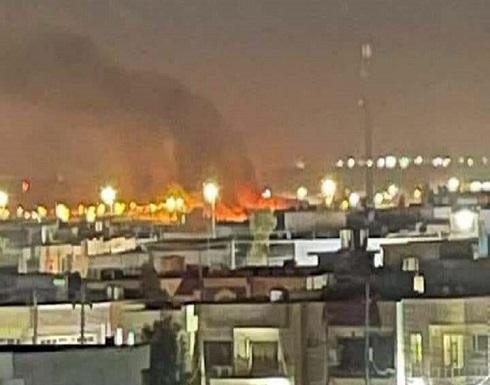 لحظة القصف الذي استهدف مطار أربيل الدولي بكردستان العراق .. بالفيديو