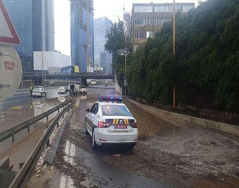 شاهد : تل أبيب تغرق