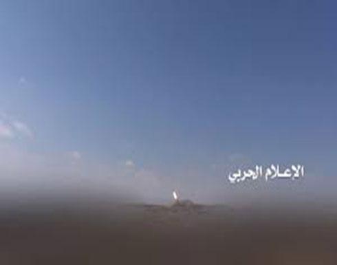 شاهد الصاروخ الحوثي الذي استهدف مطار أبها الدولي صباح اليوم