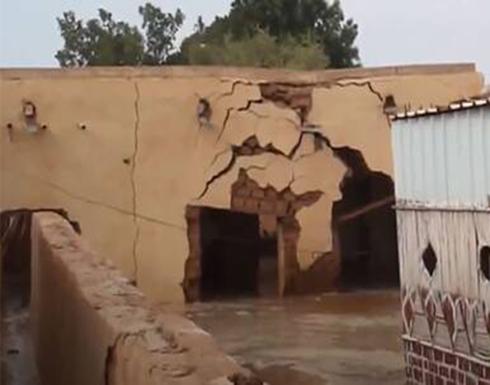 شاهد : انهيار منازل في السودان بسبب الفيضانات والسلطات تعلن حالة الطوارئ