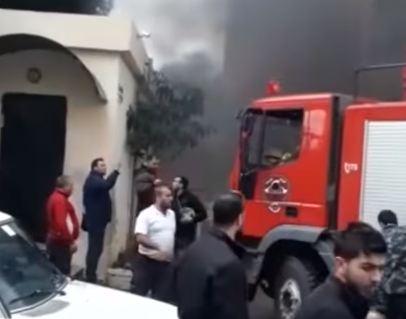 شاهد ... إصابة عنصر من حماس بانفجار صيدا جنوبي لبنان
