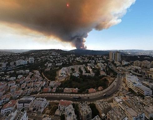حرائق وإخلاء مستوطنات في القدس المحتلة (شاهد)