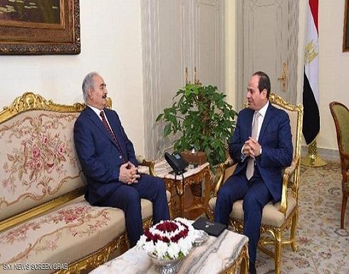 السيسي يستقبل خليفة حفتر في القاهرة