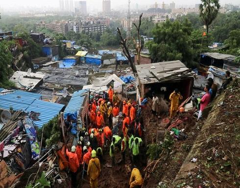 شاهد : 33 قتيلا حصيلة ضحايا الأمطار الغزيرة في مومباي الهندية