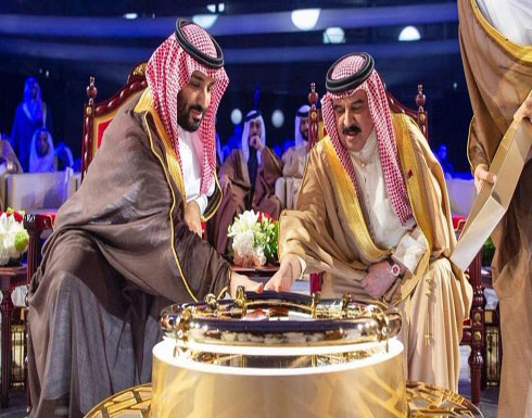محمد بن سلمان وملك البحرين يدشنان خط نفط جديداً