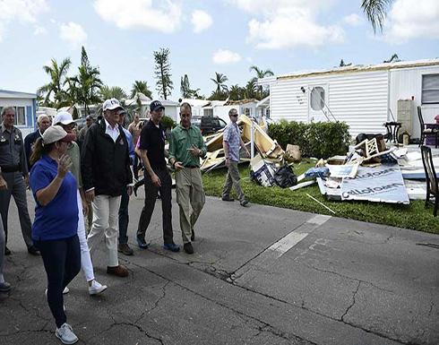 ترامب يتفقد ضحايا الإعصار في فلوريدا والجهود تتركز على إعادة التيار الكهربائي