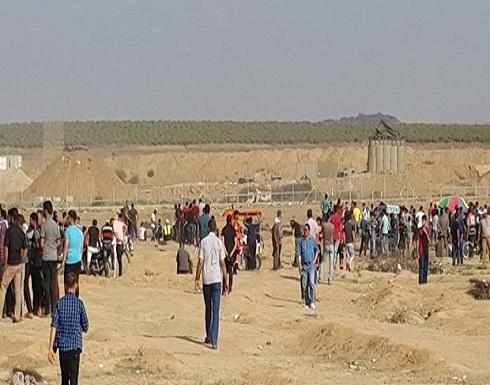 بالصور : 25 اصابة في جمعة الوفاء للخان الاحمر على حدود غزة
