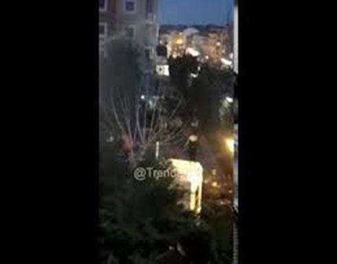 شاهد :  من موقع سقوط مروحية عسكرية تركية بالقرب من منطقة سكنية