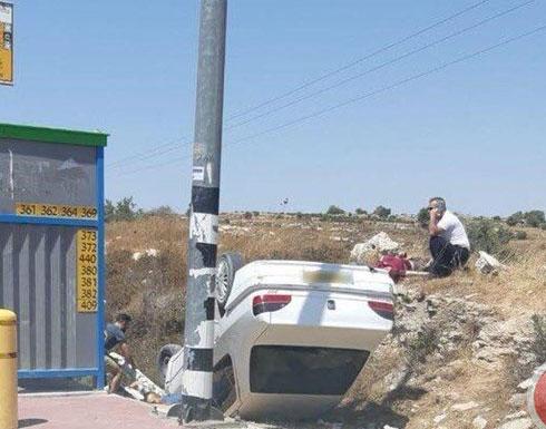 """اصابة مستوطنين بعملية دهس  في """"عتصيون"""" جنوب بيت لحم"""