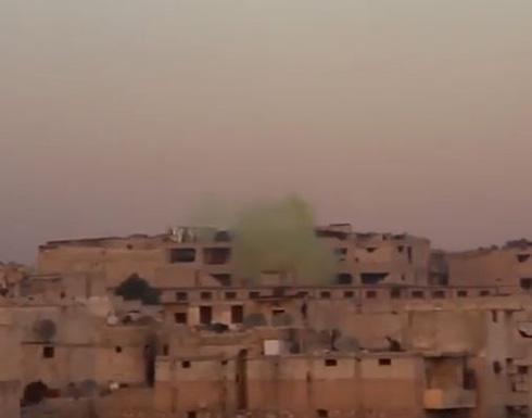 قوات النظام السوري نفذت هجمات كيمائية  في مناطق تسيطر عليها المعارضة في حلب