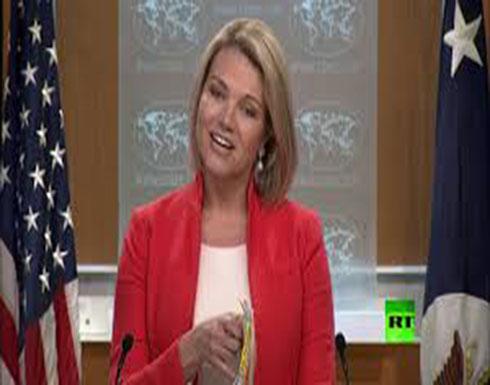 صحفي عربي يحرج المتحدثة باسم الخارجية الأمريكية في عقر دارها