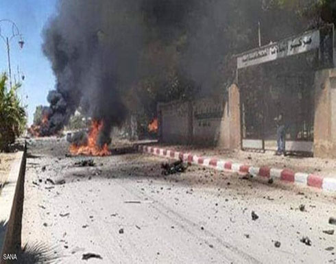 شاهد : انفجار سيارة مفخخة في بلدة القحطانية بريف الحسكة